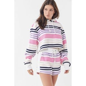 UO Champion Striped Cropped Hoodie